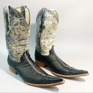 Innovation Genuine Stingray Cowboy Western Boots